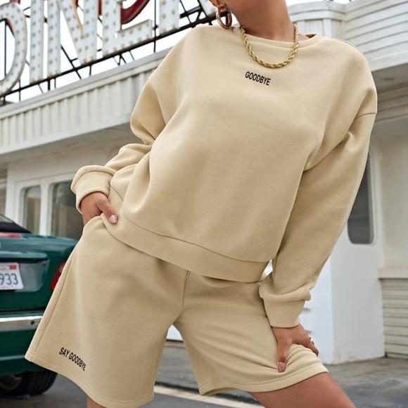 Shein Pullover & Shorts Set